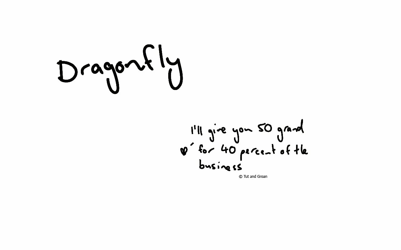 Tut and Groan Dragonfly cartoon