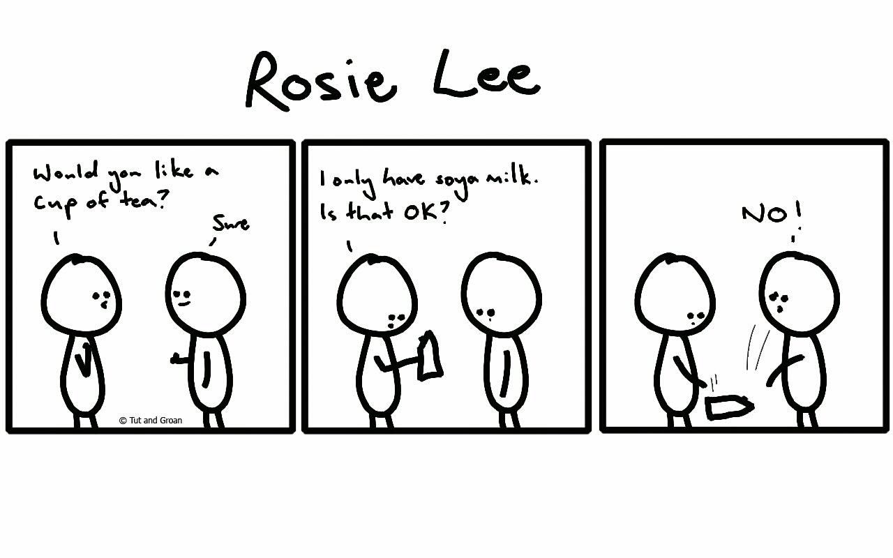 Tut and Groan Three Panels: Rosie Lee cartoon