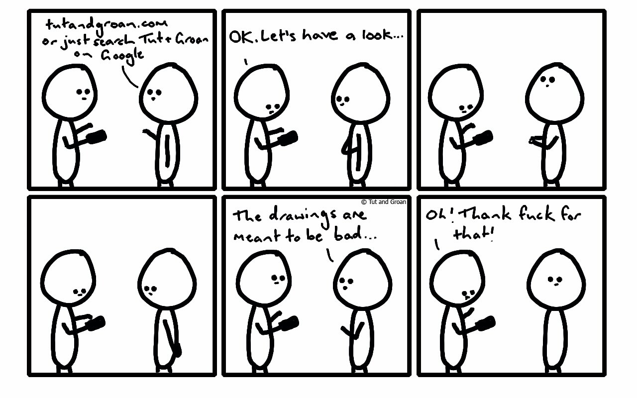 Tut and Groan Six Panels: With Friends cartoon