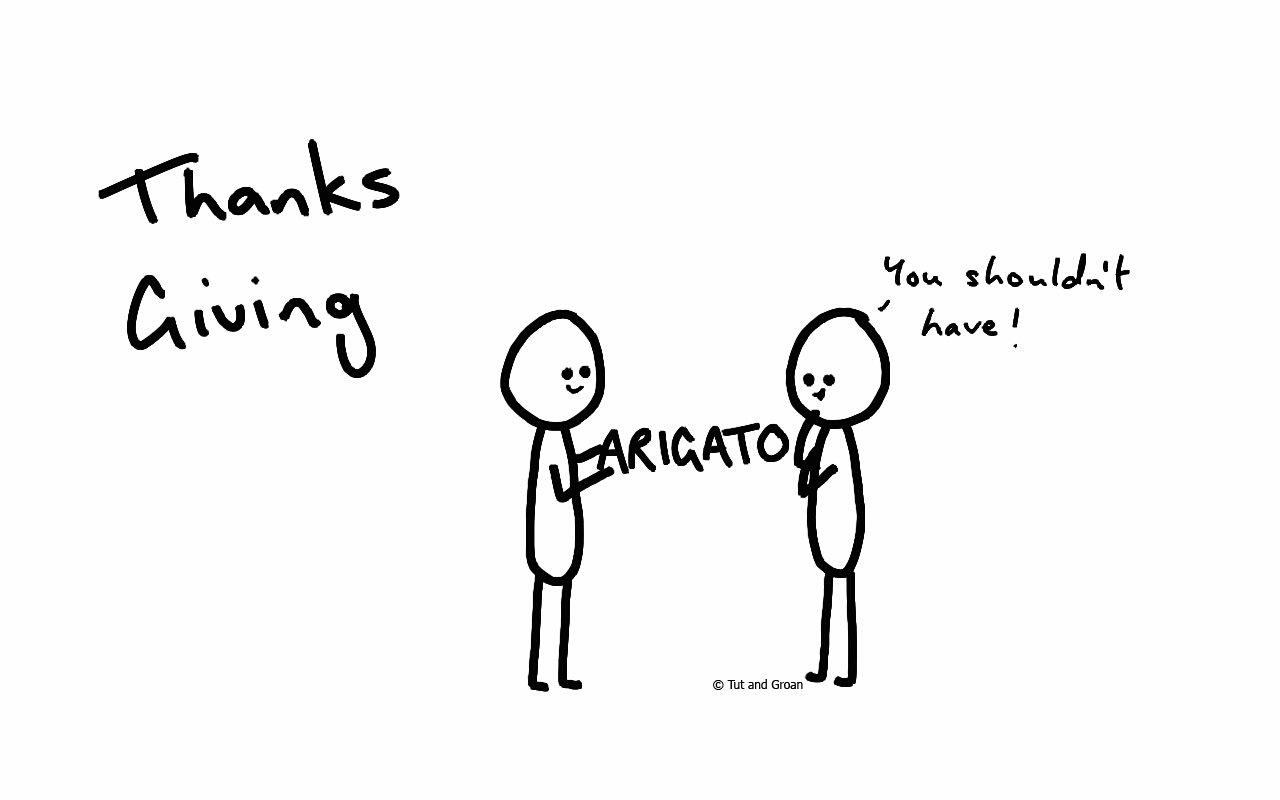 Tut and Groan Thanksgiving cartoon